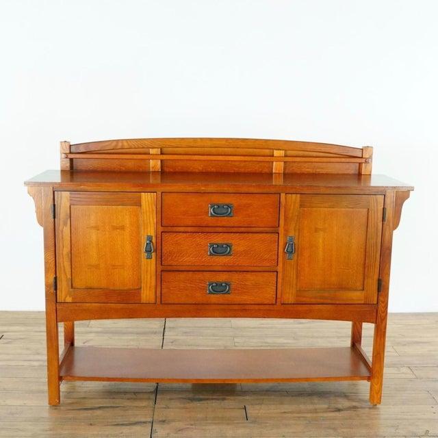 Brown Mission Style Basset Oak Sideboard For Sale - Image 8 of 8