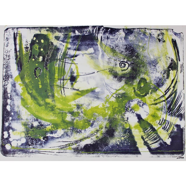 Mid-Century Abstract Lithograph by Jerry Opper - Image 1 of 3