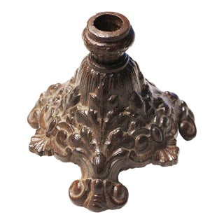 19th Century Victorian Cast Iron Candlestick / Candle Holder For Sale