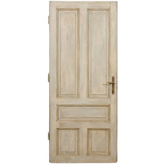 Rustic European Painted Wood Door For Sale