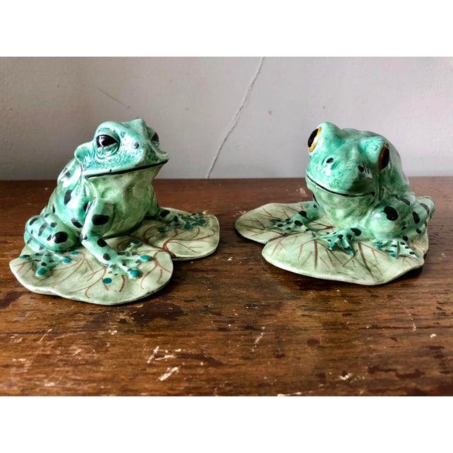 Vintage Meiselman Imports Italian Ceramic Frogs- a Pair | Chairish