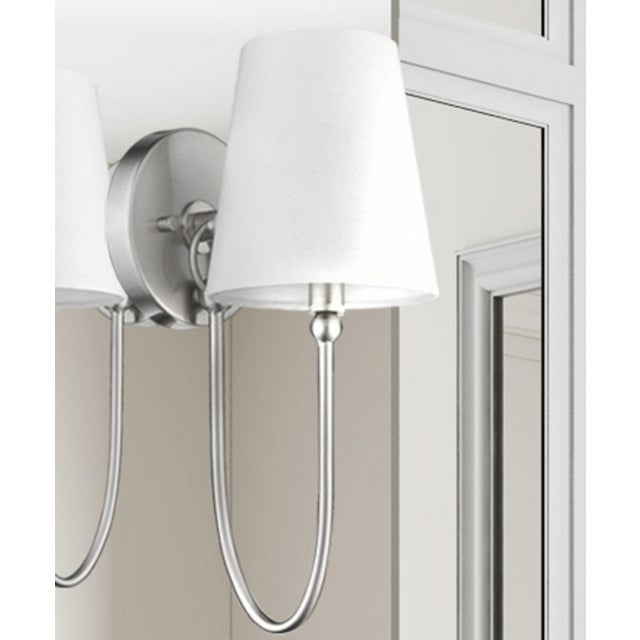 Signature 1 Light Sconce, Satin Nickel For Sale - Image 4 of 9