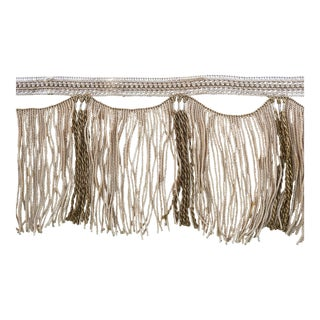 Antique Wide Swag Fringe Victorian Valance Trim Passimenterie 1 Yd For Sale