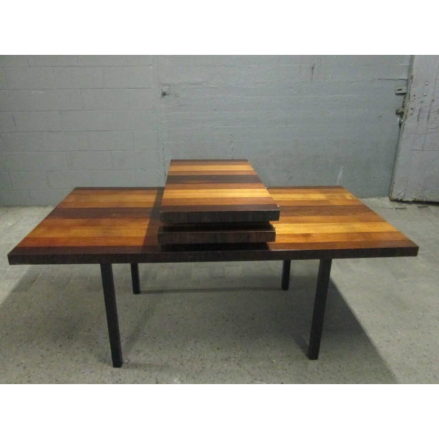 Mid-Century Modern Milo Baughman Dining Table for Directional With Two Extension Leaves For Sale - Image 3 of 5