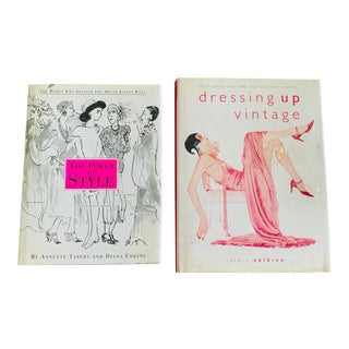 The Power of Style and Dressing Up Vintage Fashion Books - a Pair For Sale