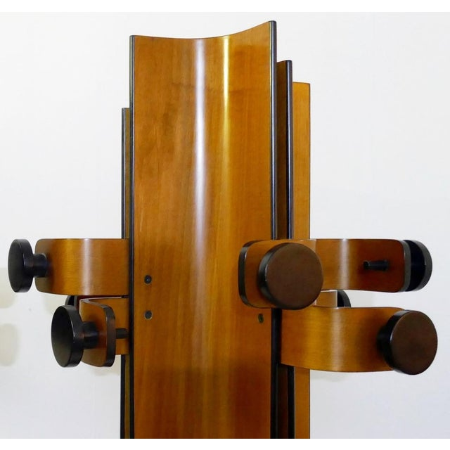 Franco Campo & Carlo Graffi Coat Rack in Multiplex Curved Wood by Campo & Graffi For Sale - Image 4 of 10