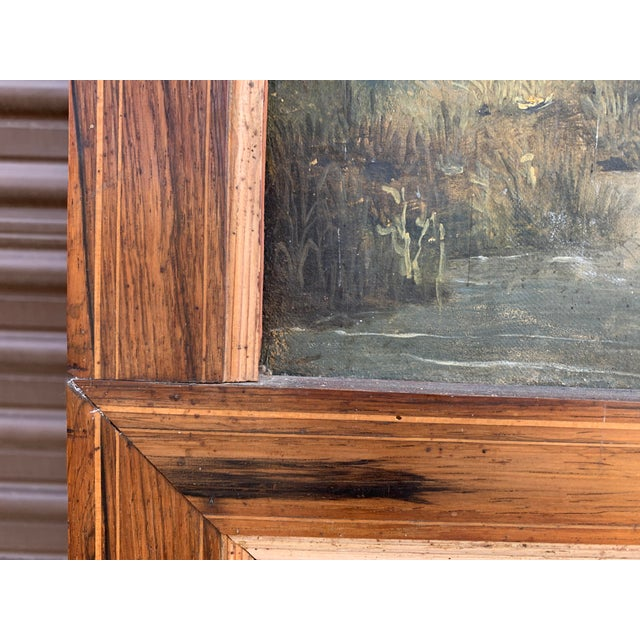 French Trumeau Mirror With Idyllic Pastoral Landscape For Sale - Image 11 of 12