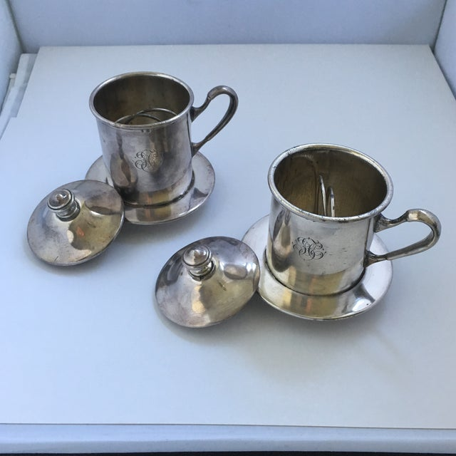 French Silverware Egoist Tea Cup Filter Set, 1850 For Sale - Image 5 of 11