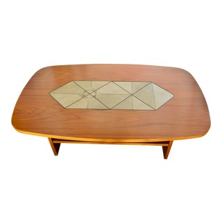1980s Mid-Century Modern Danish Gangso Teak Tile Coffee Table For Sale
