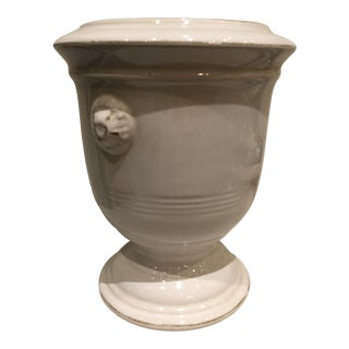 French Style White Jardiniere For Sale