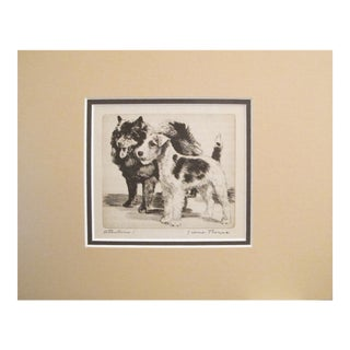 "1936 American Diana Thorne Dog Portrait, ""Attention!"" For Sale"
