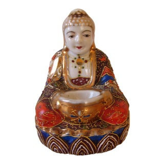 Early 20th Century Japanese Moriage Buddha Incense Burner For Sale