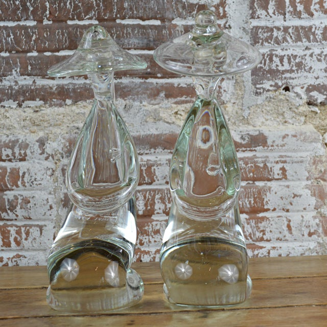 Glass Murano Kneeling Figures by Pino Signoretto - A Pair For Sale - Image 7 of 10