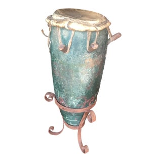 Antique African Drum For Sale
