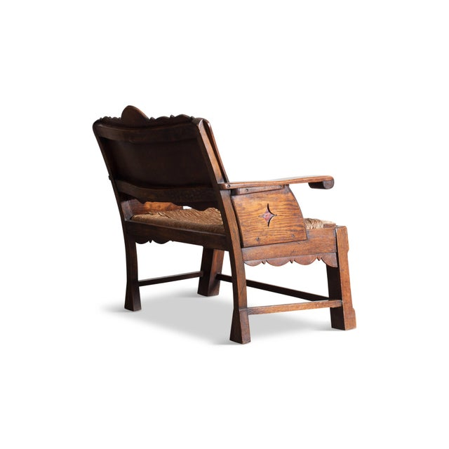 Mid 19th Century Sculptural Arts & Crafts Lounge Chair For Sale - Image 5 of 9