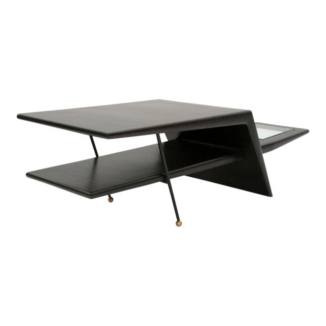 1960s Mid-Century Modern Sculptural Coffee Table For Sale