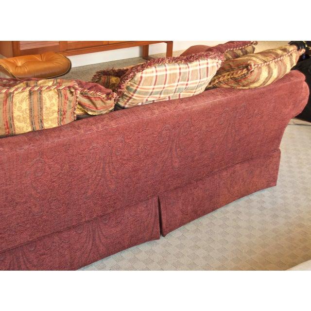 Lane Furniture Lane Raymond Waites Custom Bolster Sofa For Sale - Image 4 of 13