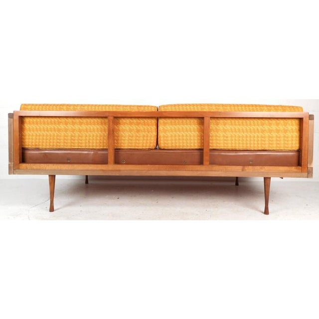 Mid-Century Modern Walnut and Cane Sofa - Image 4 of 7