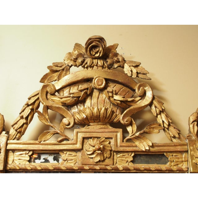Epoch Louis XVI Gilt Wood Mirror For Sale - Image 4 of 9
