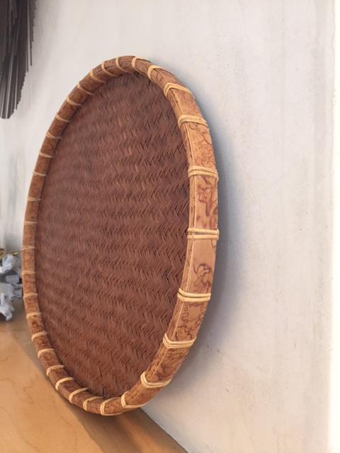 Oval Rattan U0026 Bamboo Basket Tray   Image 4 ...