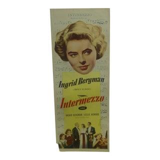 "Vintage Movie Poster ""Intermezzo"" 1939 For Sale"