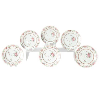 Early 19th Century Chinese Porcelain Plates Set of Six For Sale