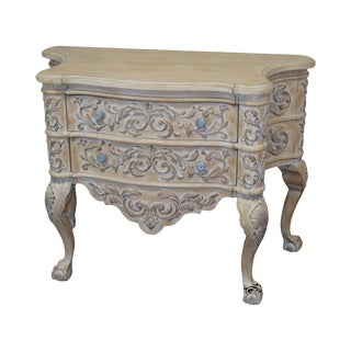 Century Baroque Style Carved Serpentine 2 Drawer Chest For Sale
