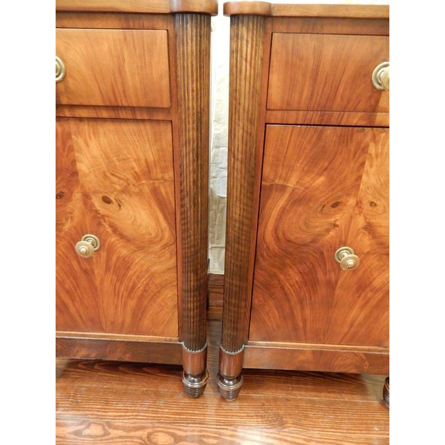 Wood Pair of 19th C Charles X French Walnut Bedside Cabinets For Sale - Image 7 of 11