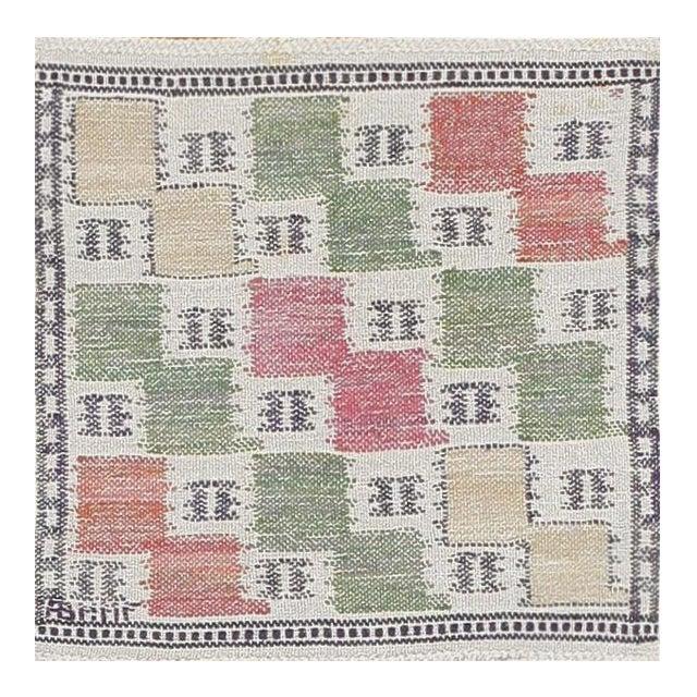 Vintage Scandinavian Rug by Marta Maas - 1′4″ × 1′4″ For Sale
