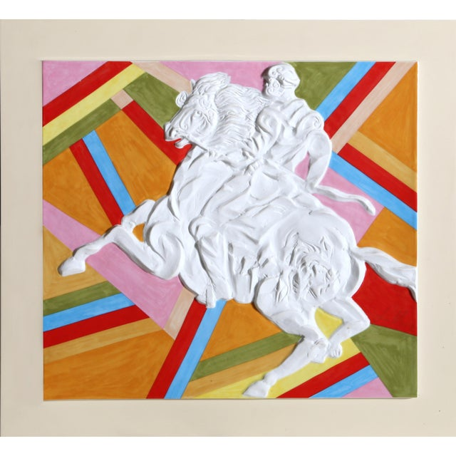 "Sandro Chia, ""Palio WeiB (Warrior on Horse)"", Pop Art Porcelain For Sale - Image 4 of 4"