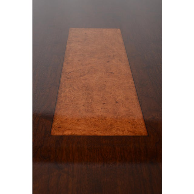 Bespoke Art Deco Style Walnut Extending Dining Table For Sale - Image 11 of 12