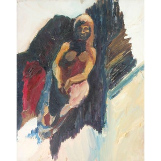 Alysanne McGaffey Bay Area Figurative Portrait Oil Painting, Circa 1958 For Sale