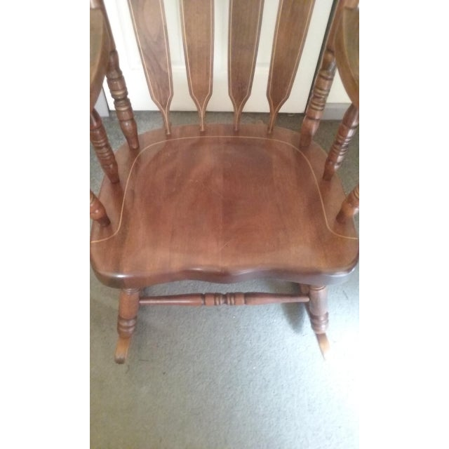 Etching Mid 19th Century Vintage Yugoslavian Rocking Chair For Sale - Image 7 of 11
