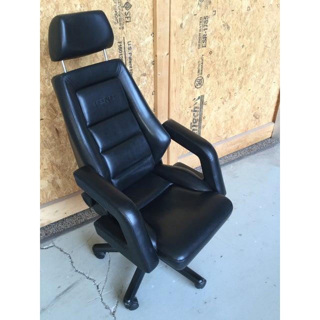 Vintage Black Leather Recaro Executive Chair Chairish