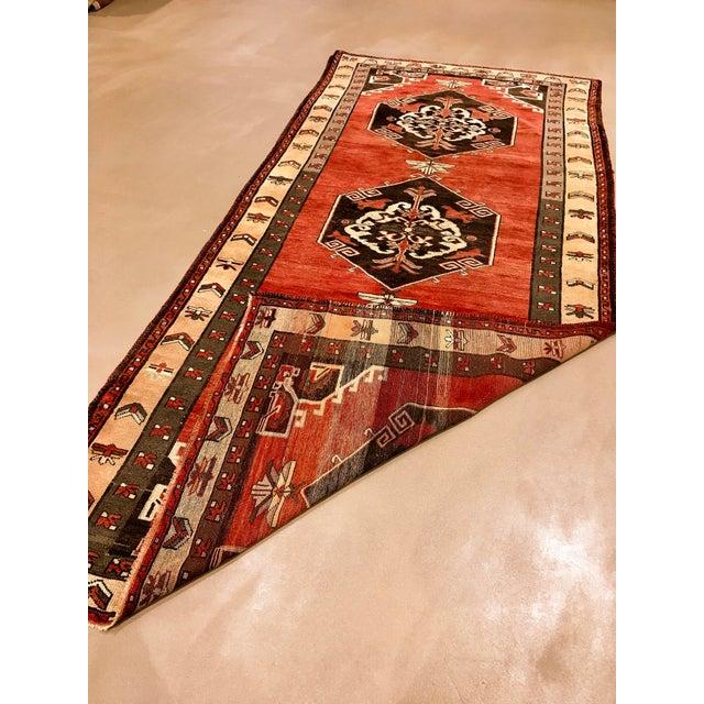 "Tribal Vintage Turkish Sivas Wool Runner Rug - 5'5"" X 11""11"" For Sale - Image 3 of 4"