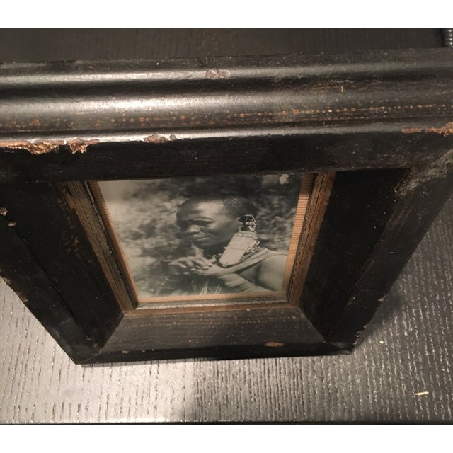 Dark Aged Frame with Photo - Image 5 of 5