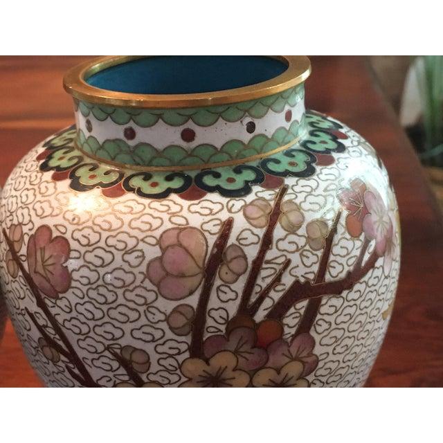 Pair of Chinese Cloisonne Enamel Ginger Jar Vases - Image 11 of 11