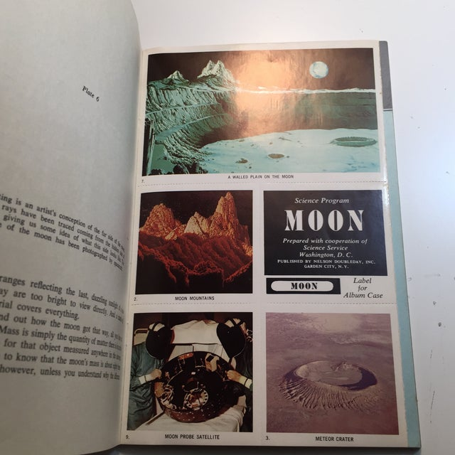 Contemporary 1967 Earth and Moon Science Service Books - Set of 2 For Sale - Image 3 of 11