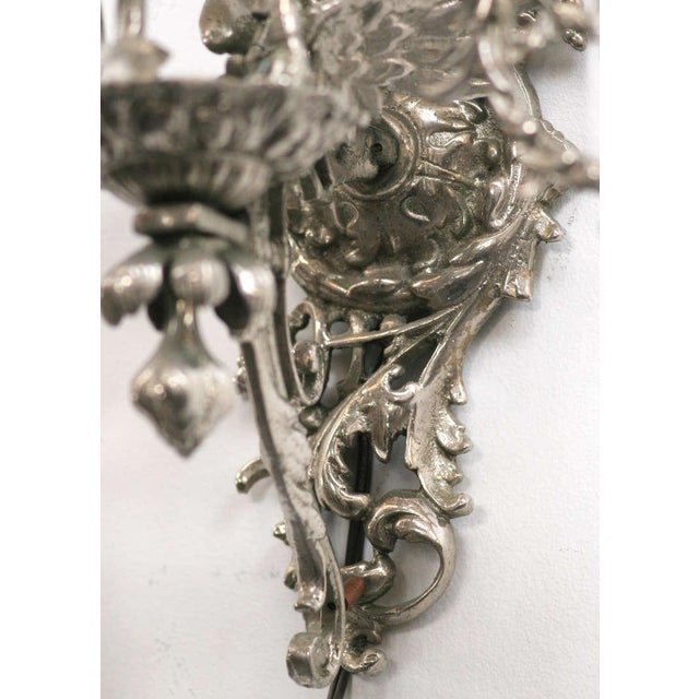 finest selection 56a6f d5178 19th Century Nickel-Plated Bronze Rococo Dragon Wall Sconce Set of Four