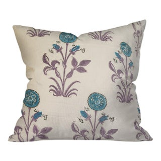 Indian Block Print Pillow 22x22 For Sale