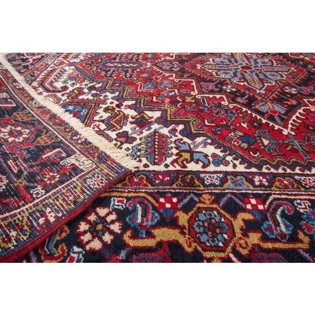 """Apadana - Vintage Persian Heriz Rug, 8' x 8'9"""" - Image 5 of 7"""