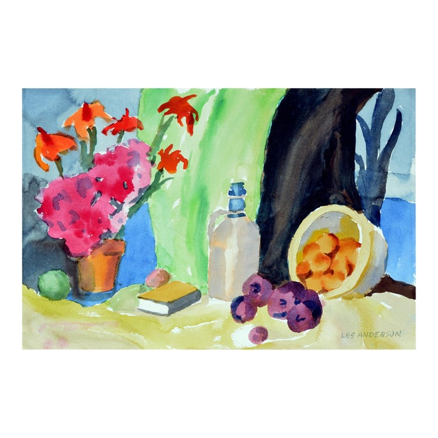 Fruit & Jug Still Life Painting For Sale