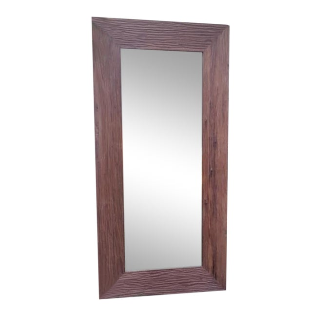 Reclaimed wood full length mirror chairish Where can i buy reclaimed wood near me