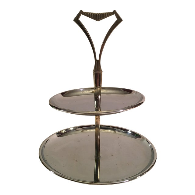 Vintage Chromex Mid Century Modern 2 Tier Serving Tray - Image 1 of 9