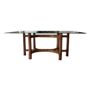 Robb & Stucky High-End Bamboo and Glass Dining Table For Sale