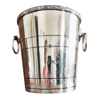 Antique Silver Plated Chicago Railroad & Athletic Association Champagne Bucket For Sale