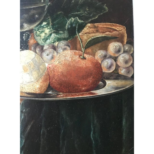 Baroque 19th Century Still Life Painting After Pieter Claesz, Framed For Sale - Image 3 of 9