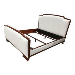 Contemporary Henredon Barbara Barry Reverie Upholstered Walnut King Size Bedframe For Sale