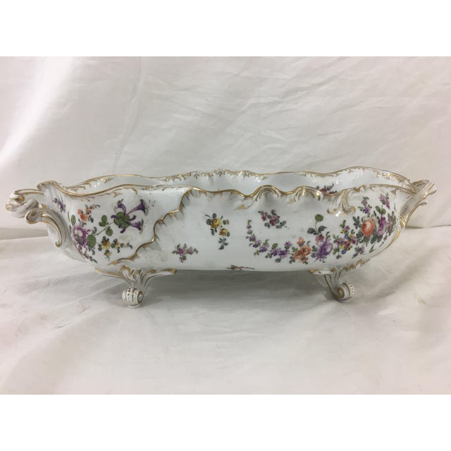 Late 19th Century 19th Century Limoge Hand-Painted Centerpiece For Sale - Image 5 of 10