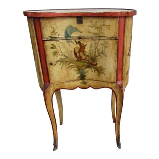 1940s French Country Tile Top Accent Table For Sale